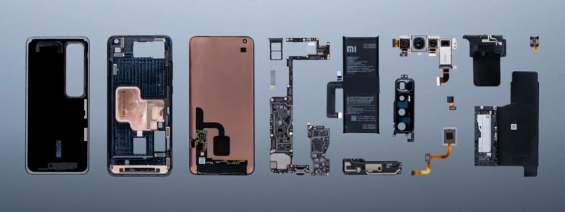 Xiaomi Mi 10 Ultra aparece totalmente desmontado em vídeo oficial