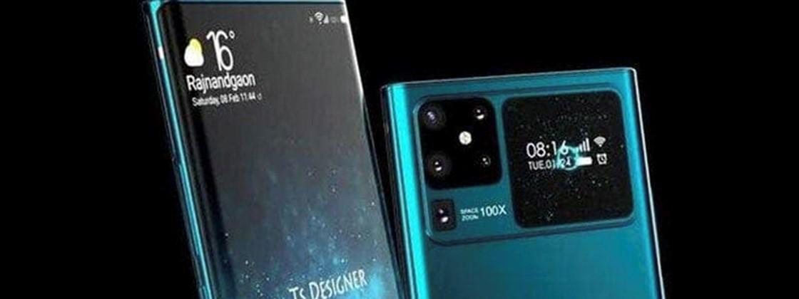 Huawei Mate 40 surge com duas telas em site chinês